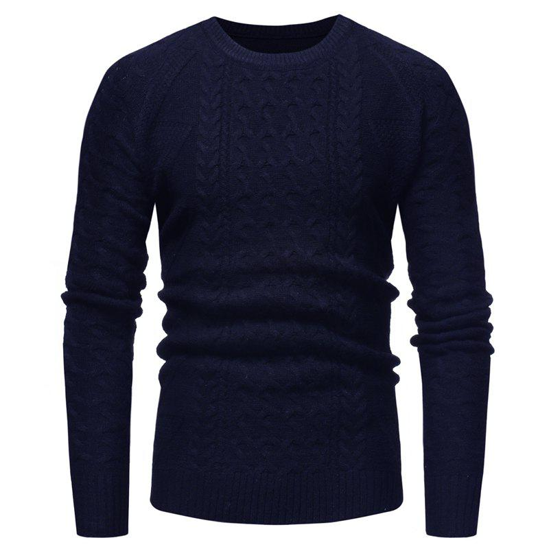 Affordable Men's Fashion Repair The Body Round Collar Coloured Sleeve Sweater