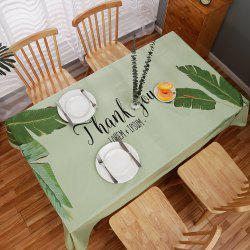 Fashion Partysu Household Table Decorations Leaf Type Rectangular Table Cloth -