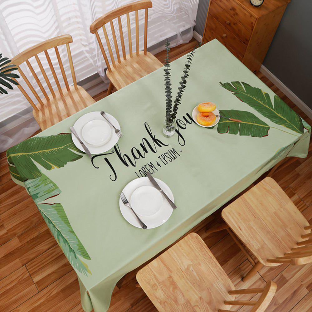 Unique Fashion Partysu Household Table Decorations Leaf Type Rectangular Table Cloth