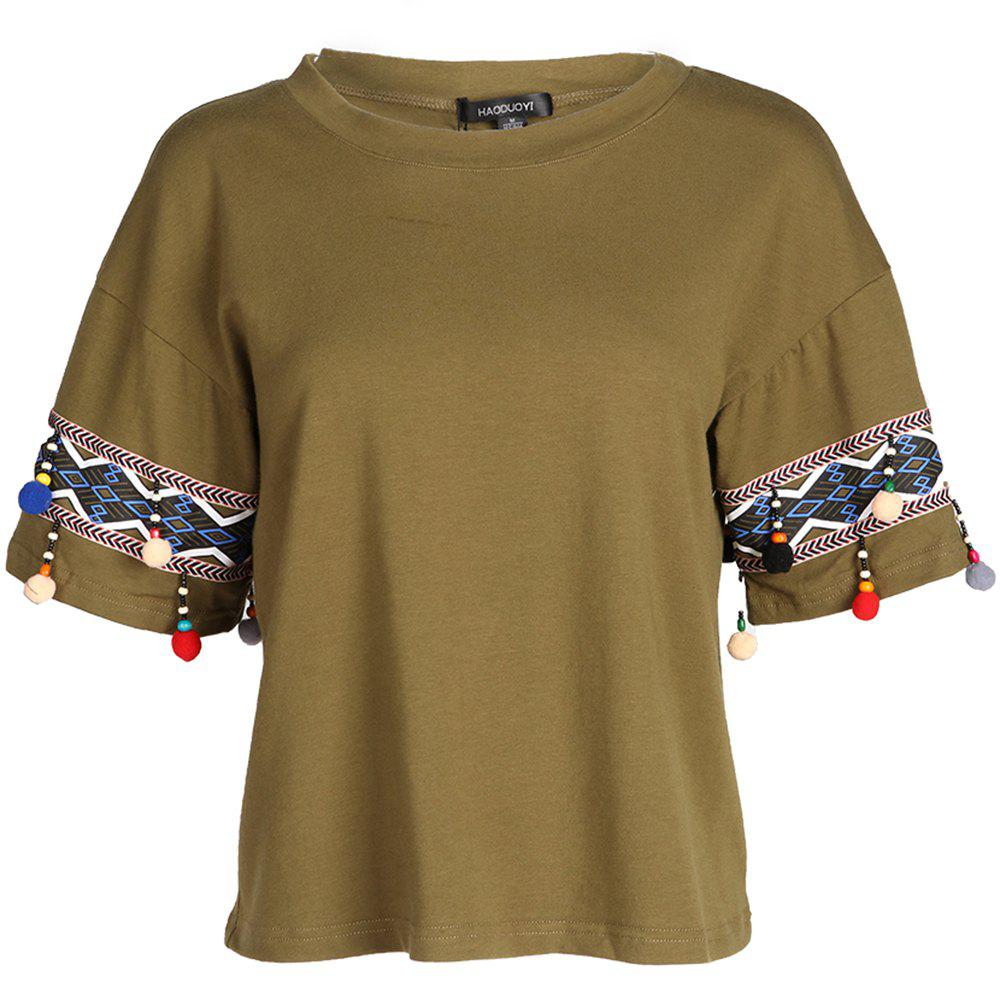 Outfit HAODUOYI Women'S Stylish Solid Color T-Shirt Green