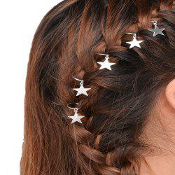 Personalized casual hair accessories tourist street shooting silver star hairpin -
