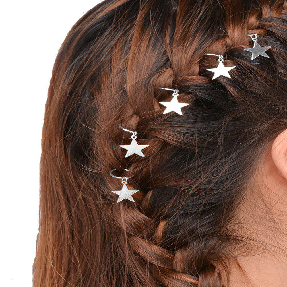 Best Personalized casual hair accessories tourist street shooting silver star hairpin