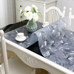 PVC Waterproof  Transparent Tablecloth with pattern Kitchen Table Cover Oil Clot -