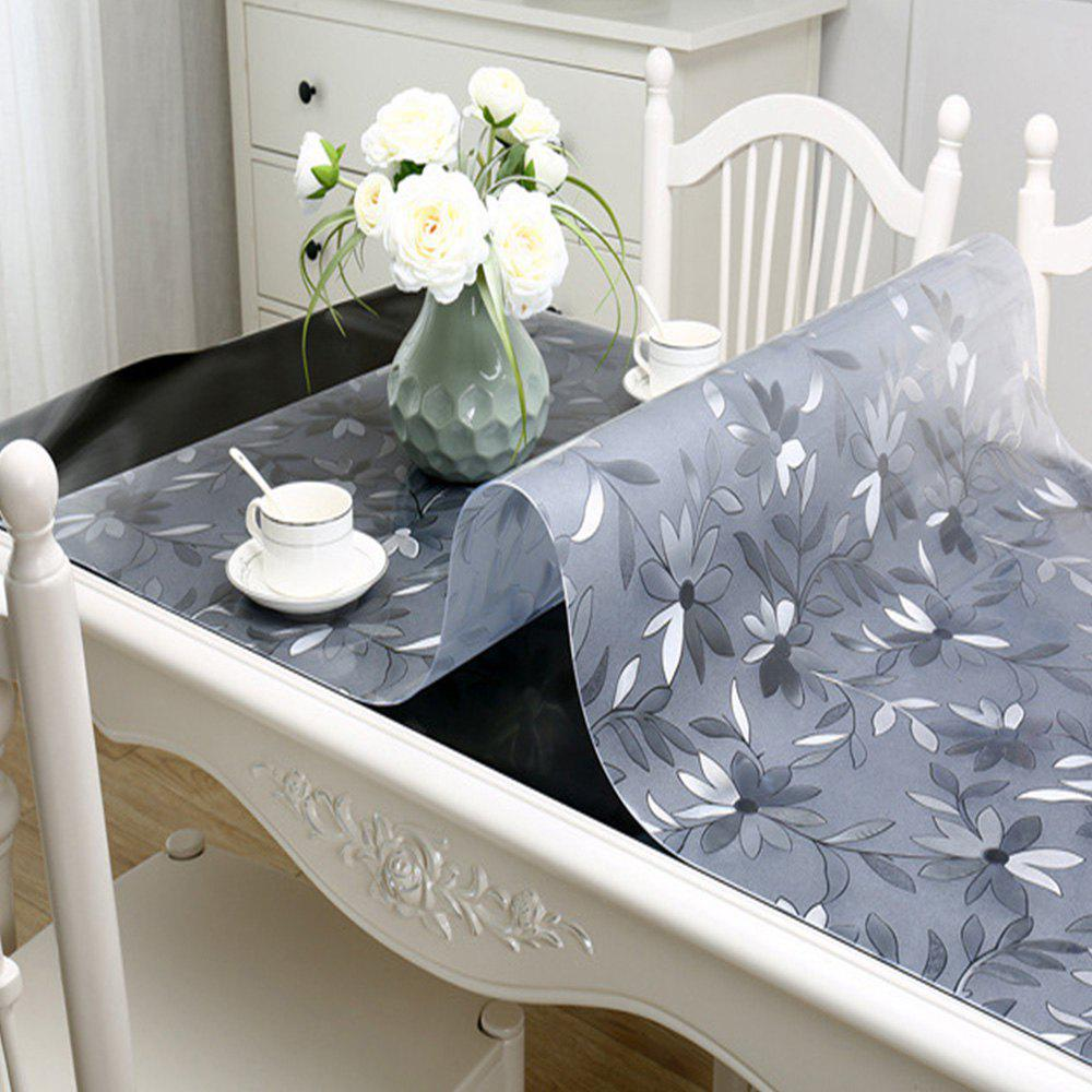 Outfit PVC Waterproof  Transparent Tablecloth with pattern Kitchen Table Cover Oil Clot