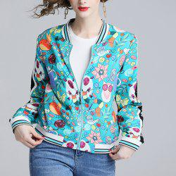 New Fall and Winter Fashionable Joker Print Coat -