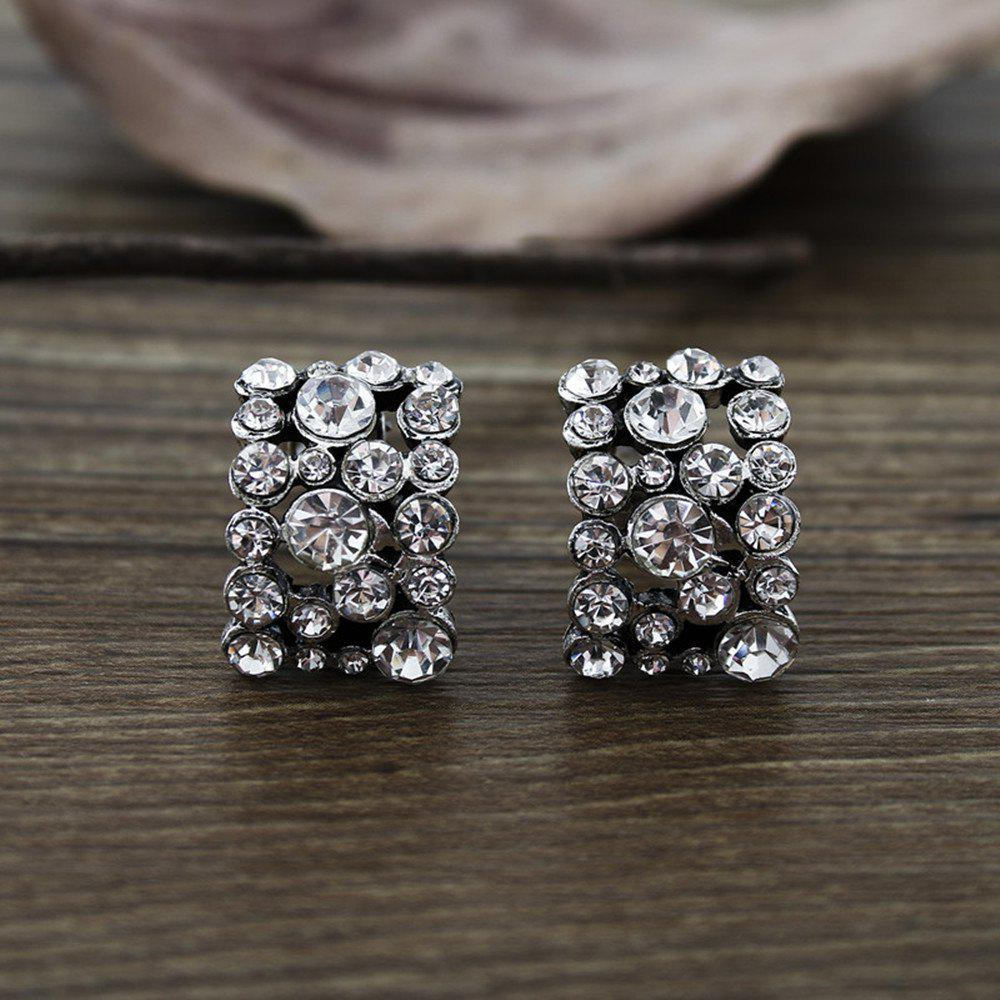 Fashion Crystal Ear Clip Female High End Personality Earrings