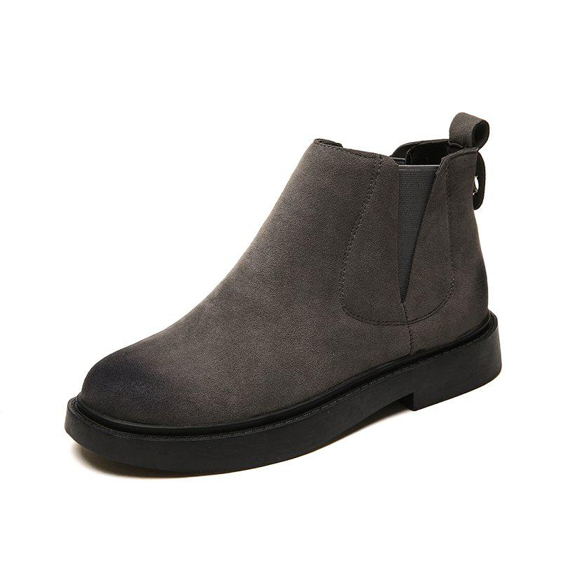 Autumn and Winter Women'S Boots Thick Bottom Flat Bottom Women'S Single Boots