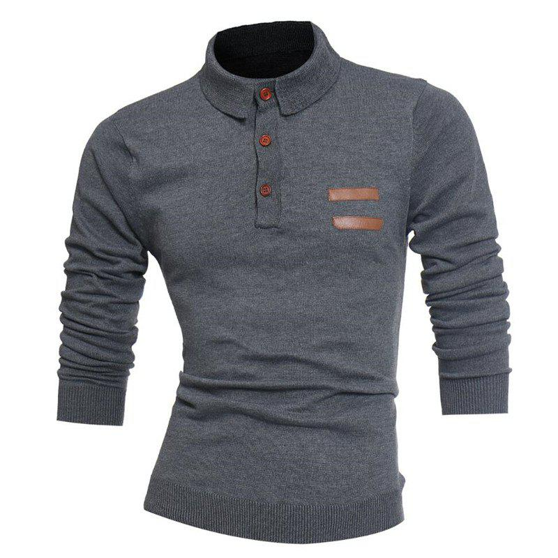 Outfit Men'S Leather Sweater Knitted Sweater