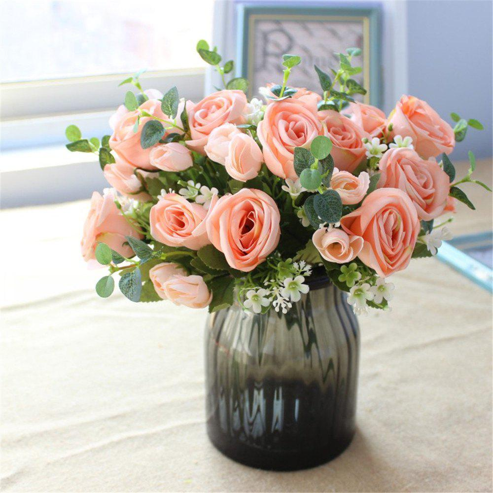 2018 10heads Rose Artificial Flowers Party Wedding Home Decorations