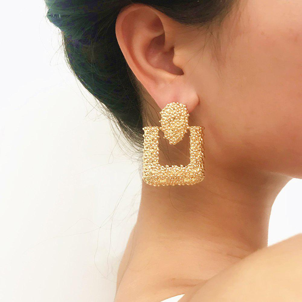 Chic Exaggerated geometric square pendant earrings