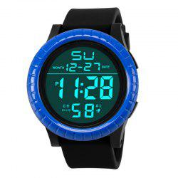HONHX Men's Fashion Multi-functional Waterproof Movement LED Digital Watch -