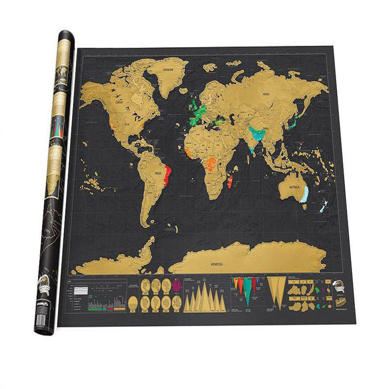 Deluxe Scratch Off Giant World Map Poster Journal Log Gift on small world map poster, ikea world map poster, giant globe maps, extra large world map poster, world map with countries poster, giant periodic table poster, high resolution world map poster,