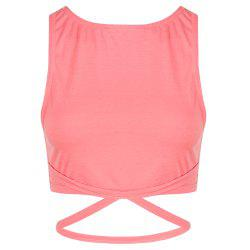 MISSOMO Fashion Cross Backless Short Sports Navel Stretch Vest -