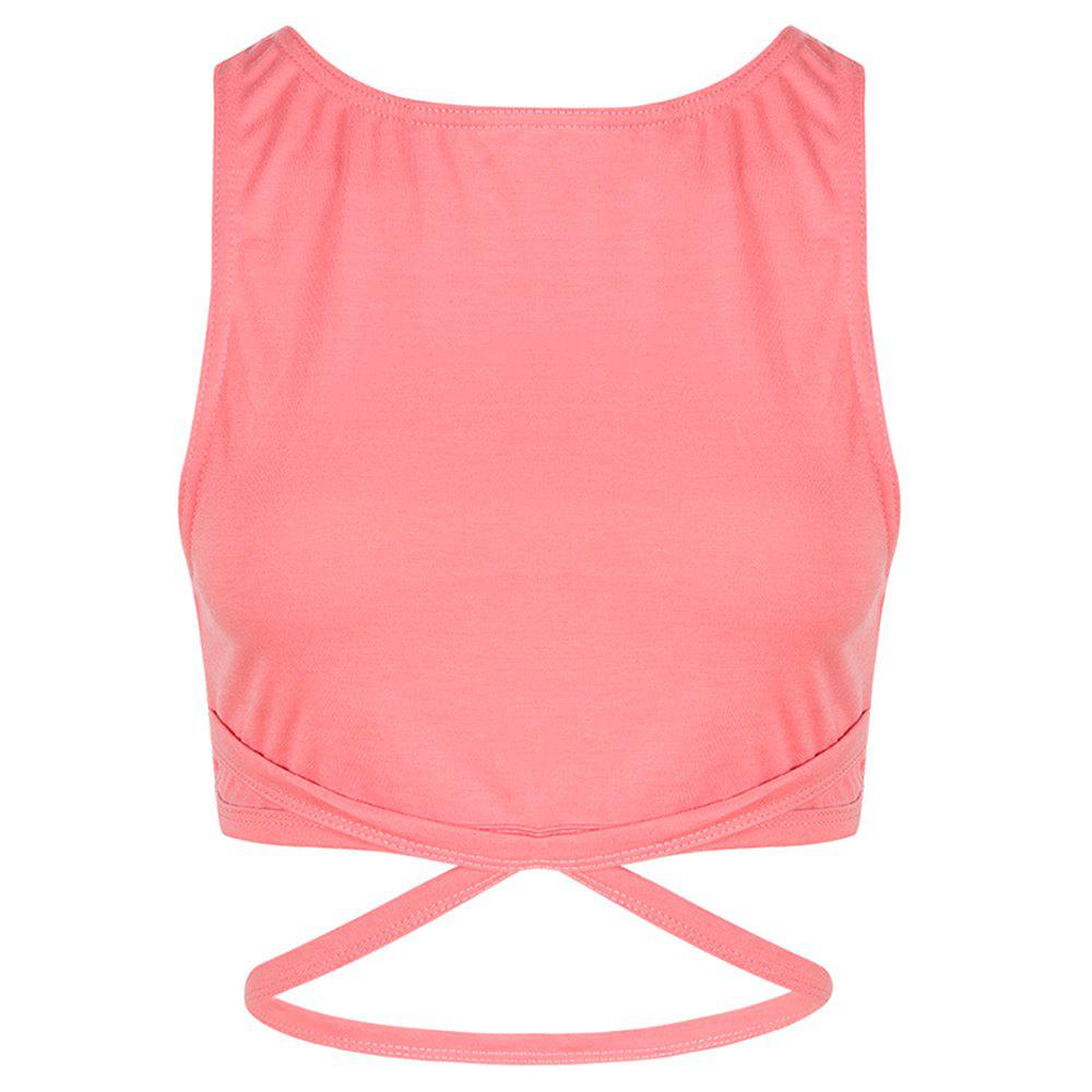 Unique MISSOMO Fashion Cross Backless Short Sports Navel Stretch Vest