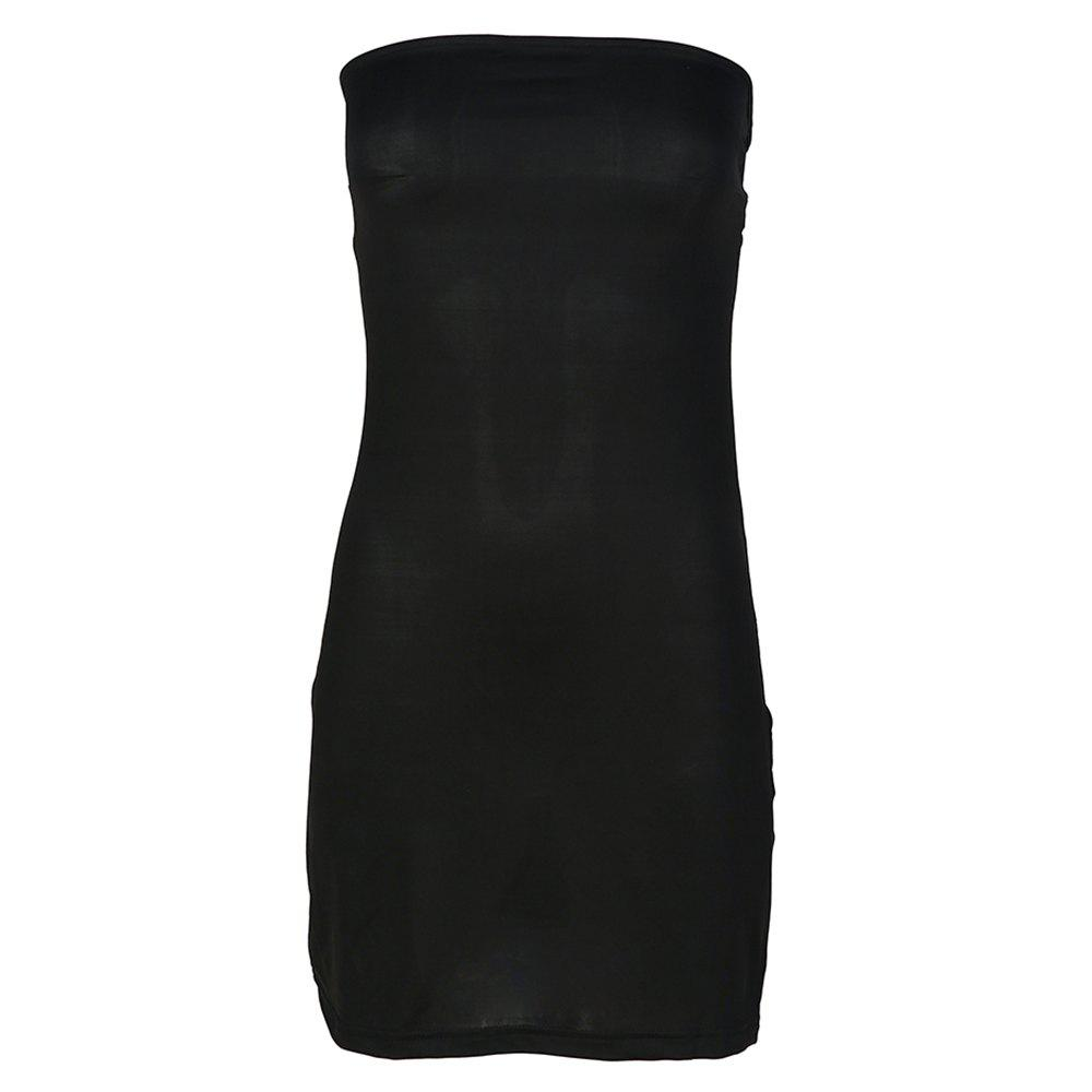 bc26462da37 Discount HAODUOYI Women s Open Back Wrapped Chest Color Tube Top Dress Black