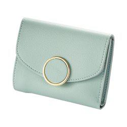 New  Three Fold Small Wallet Ladies Fashion Simple Round  Wallet -