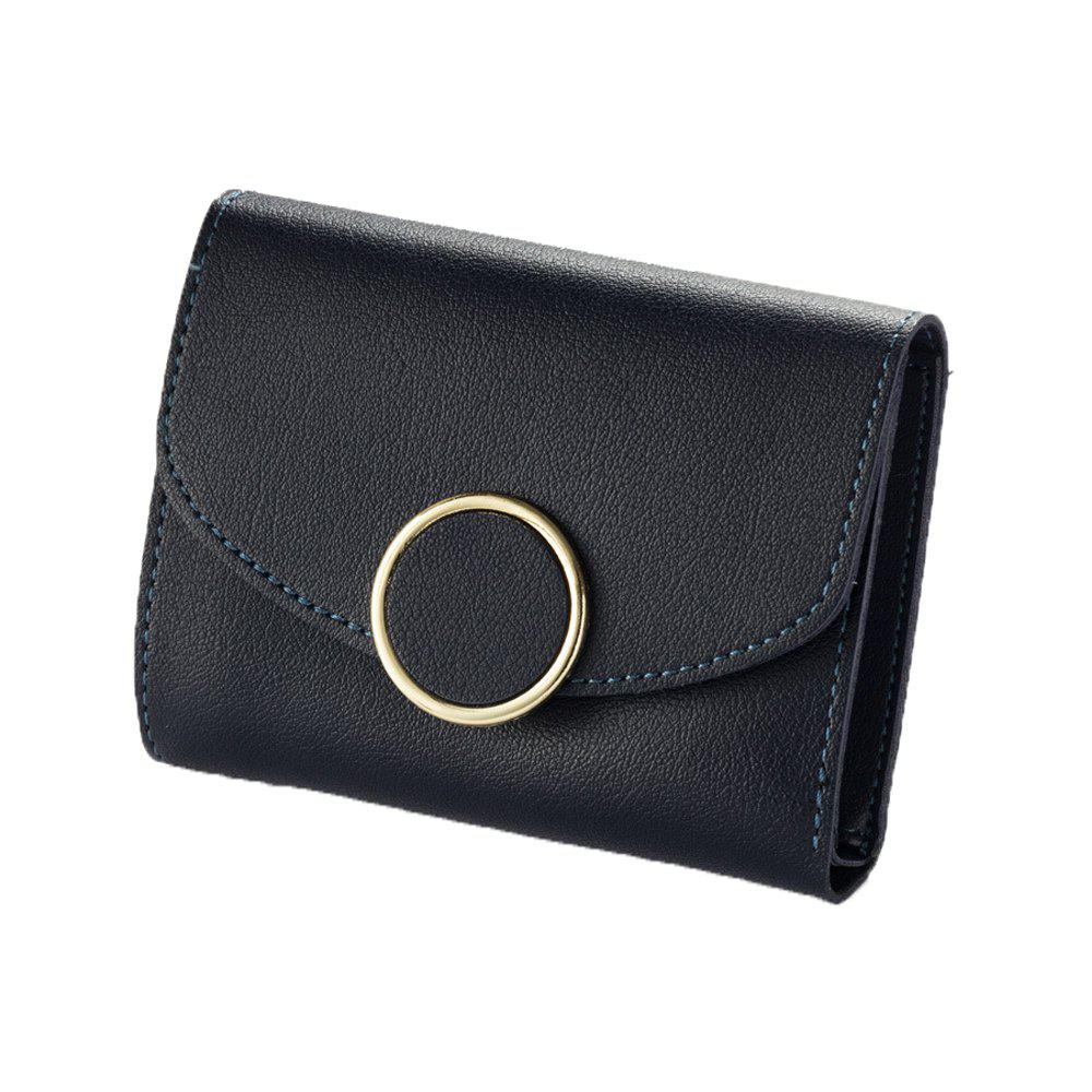 Fashion New  Three Fold Small Wallet Ladies Fashion Simple Round  Wallet