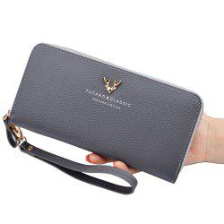 New Ladies Wallet Long Zipper Large Capacity Clutch Bag Fashion Women'S Wallet -