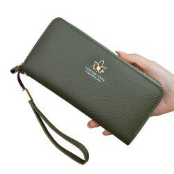 New Women'S Wallet Women'S Long Fashion Zipper Large Capacity Clutch -