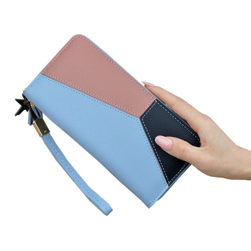 Outfits Ladies Long Zipper Fashion New Clutch Bag Stitching Contrast Color Large Wallet