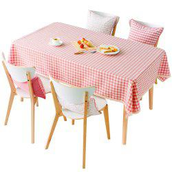 Серия Grid Pink Color Waterproof Table Cloth от Jinsehuanian -