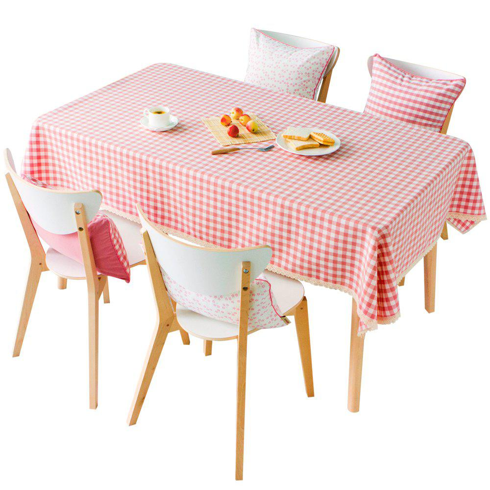 Серия Grid Pink Color Waterproof Table Cloth от Jinsehuanian