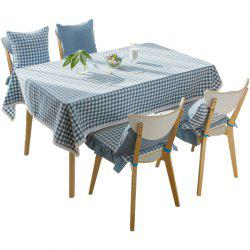 Grid Series Blue Color Waterproof Table Cloth от Jinsehuanian -