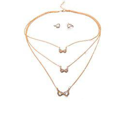 Women'S Fashion Street Flapping Wing Earrings Necklace Set Ornaments -