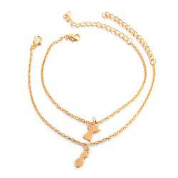 2-PIECE Women'S Fashion New Beach Pineapple Angel Anklet -