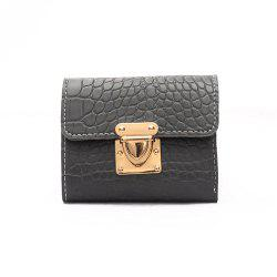 Fashion Stone Pattern Ladies Short Section Three Fold Wallet PU Ladies ClutchBag -