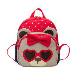 Two Color Cute Cartoon Bear Children Backpack -