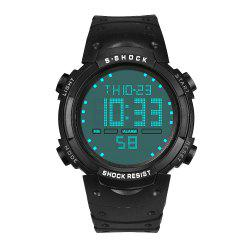 HONHX Men's Fashion LED Waterproof Movement Date Watches -