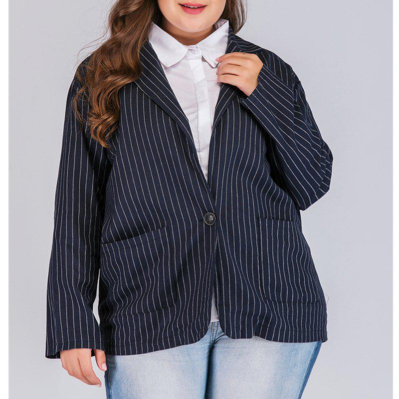 Outfit Long Sleeve Deep V Striped Suit Jacket
