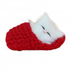 Peluche Simulation Sleeping Cat Vocalize Meow Kitten -