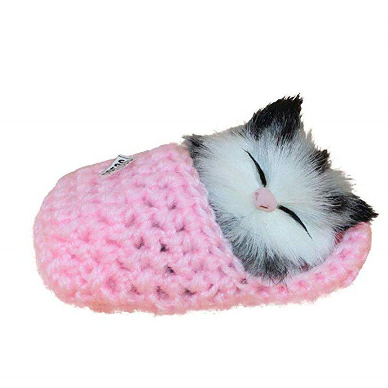 Peluche Simulation Sleeping Cat Vocalize Meow Kitten