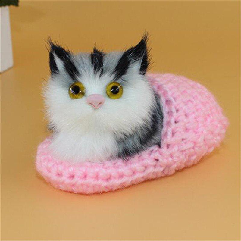 Sale Lovely Cat Slippers Plush Toy