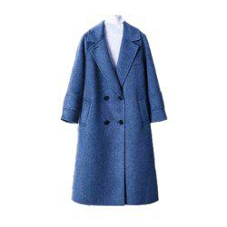 V-Neck Loose Woolen OverCoat -