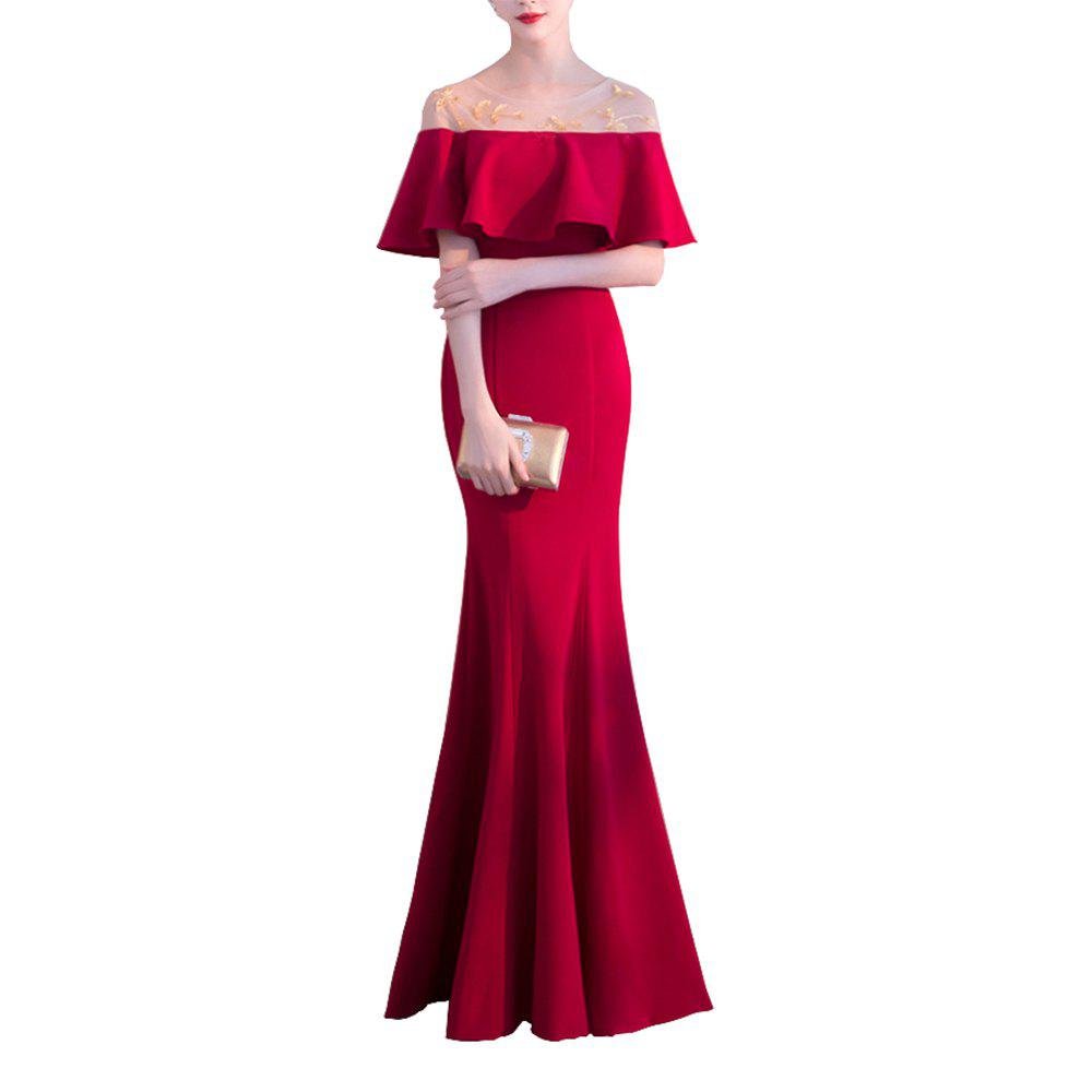 Hot Long Fishtail Off Shoulder Evening Dress