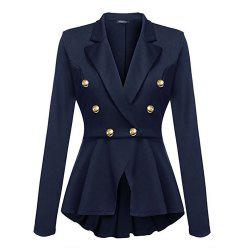 Casual Double Breasted Long Sleeved Little Suit Girl -