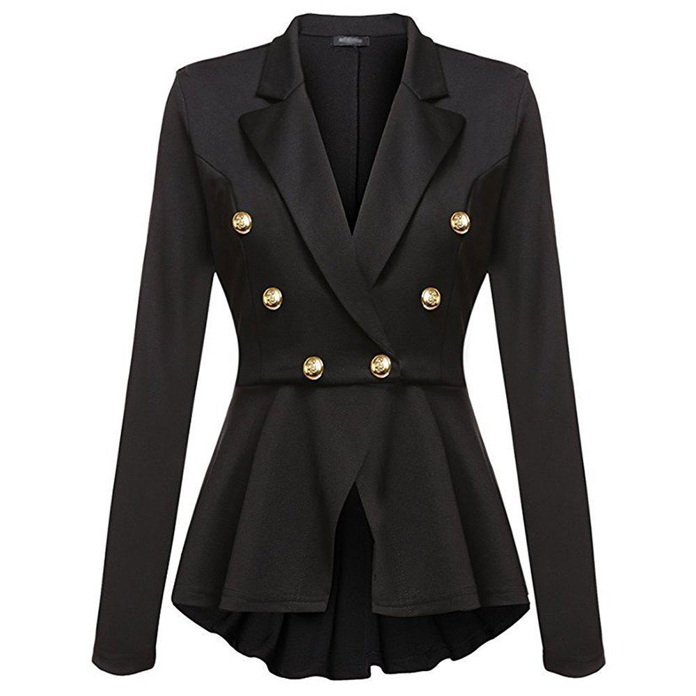 Online Casual Double Breasted Long Sleeved Little Suit Girl