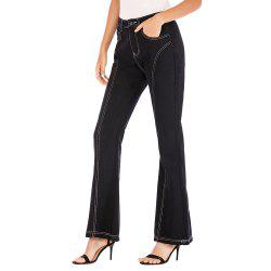 Europe and The United States Black Bell Pants Jeans Wide Leg Pants Women -