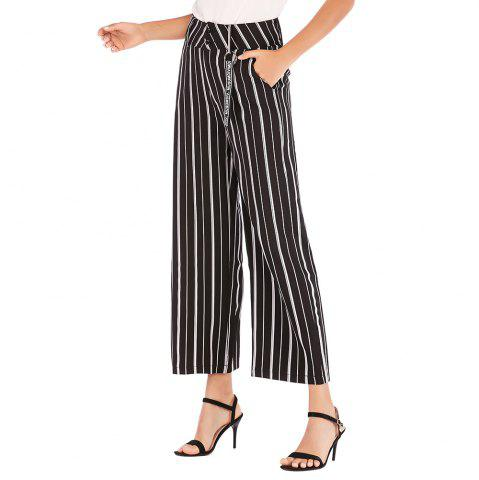 European and American Striped Wide-Leg Pants Casual Pants Women