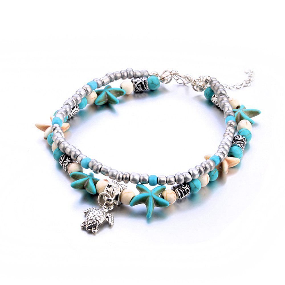 bf4283e9fd3 Trendy Fashion New Conch Starfish Beach Turtle Tortoise Anklet Bracelet