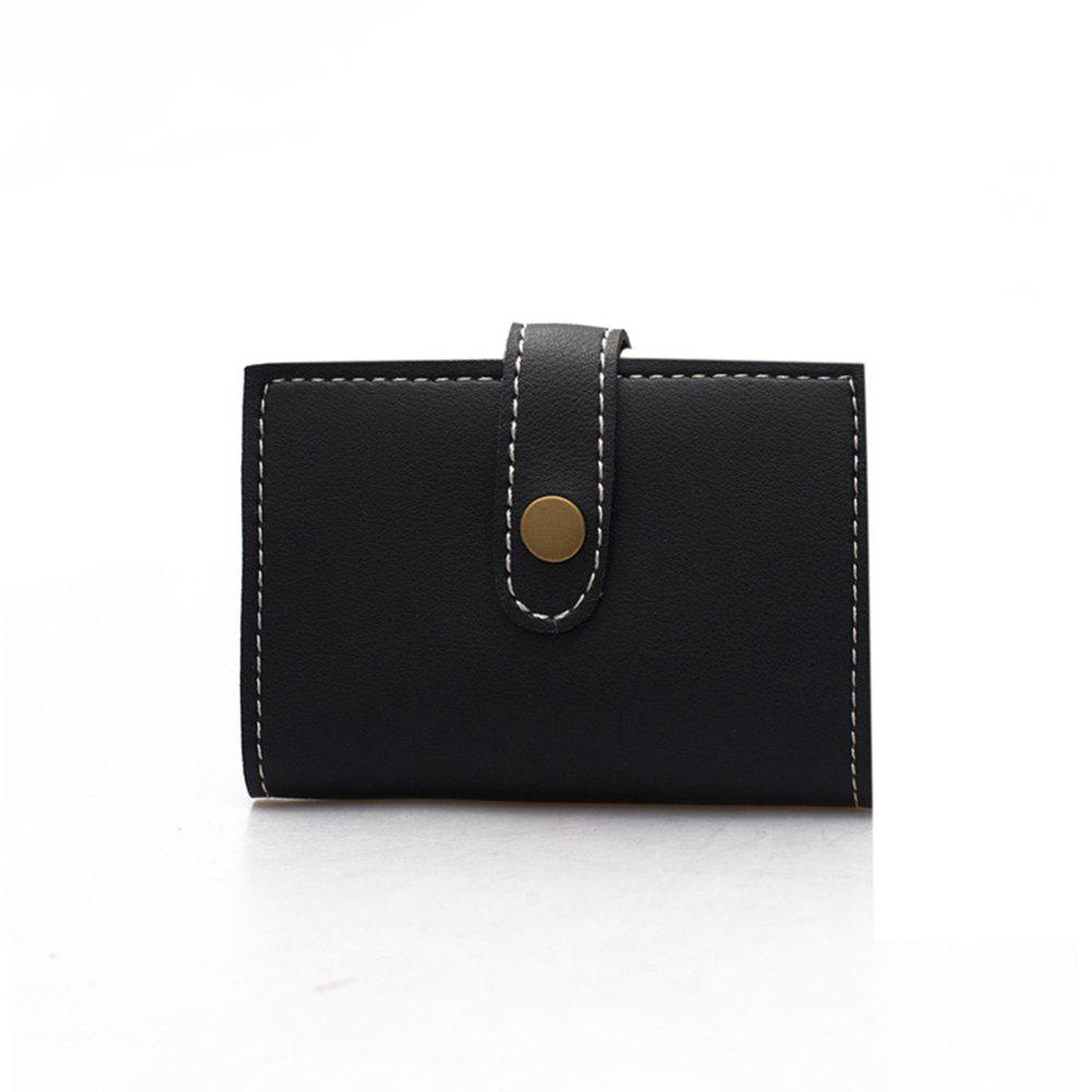 Outfit Fashion PU Ladies Short Three-Fold Wallet Temperament Clutch Bag