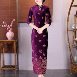 Fashion Slim Aristocratic Fans Chinese Style Elegant Cheongsam -