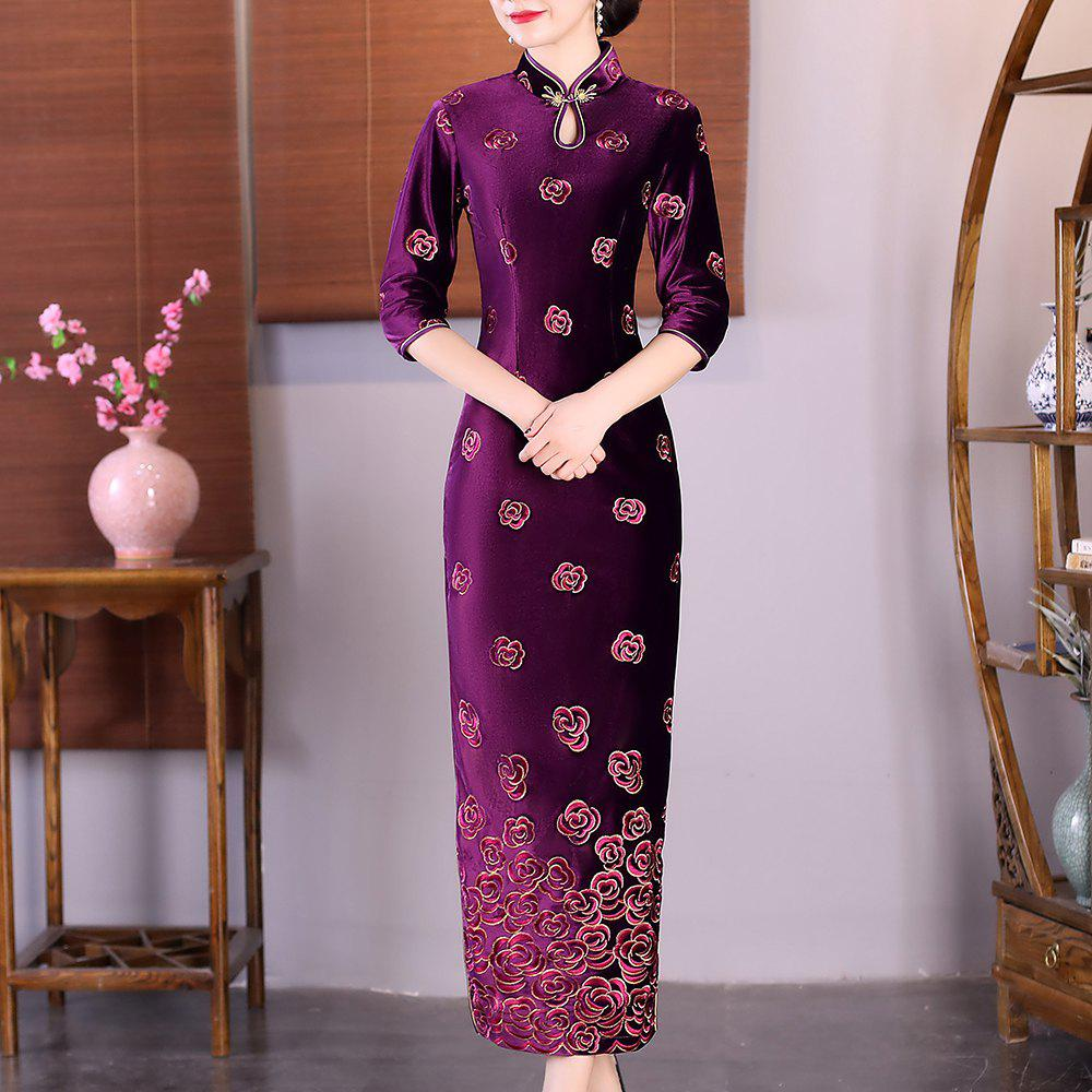 New Fashion Slim Aristocratic Fans Chinese Style Elegant Cheongsam