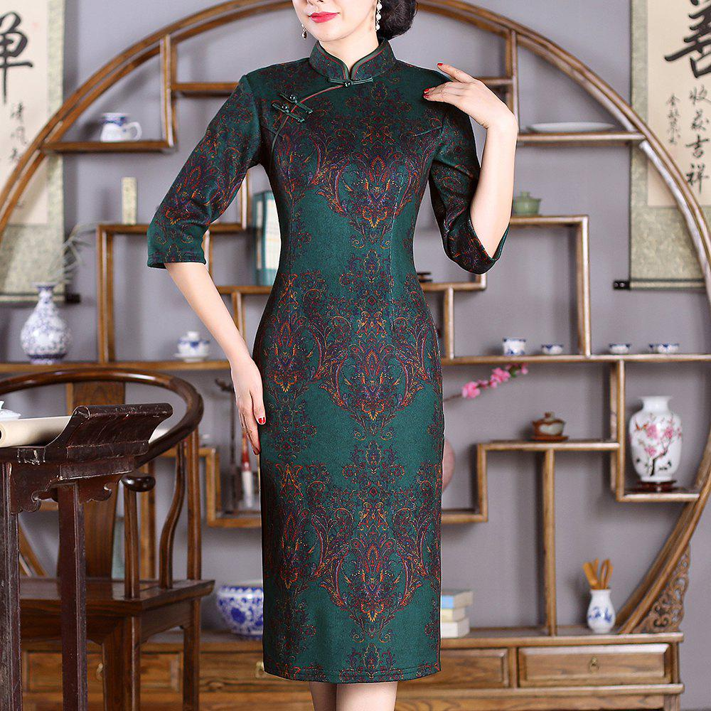 Shop Chinese Aristocratic Style Fashion Slim Ladies Version Sexy Cheongsam