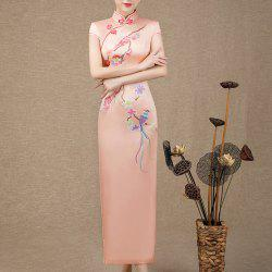 Chinese Aristocratic Style Fashion Slim Ladies Long Embroidered Cheongsam -