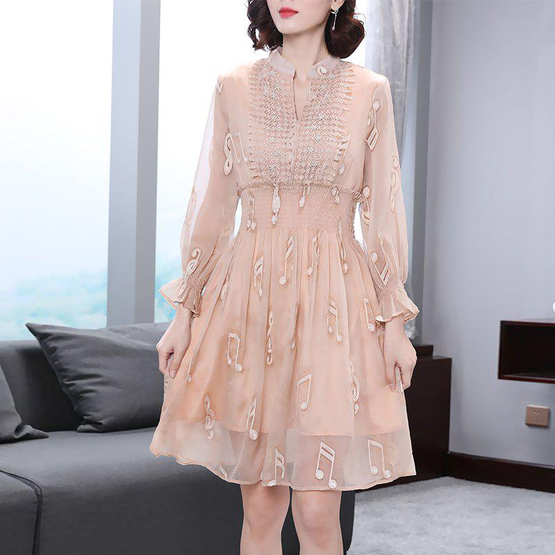 Best Nail Lace High Waist Notes Dress