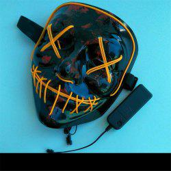 Costume de masque LED de points de lumière de Clubbing Halloween Rave Purge Party Purge -